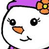 Cute chubby snowlady